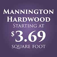 Anniversary Flooring Sale  Mannington Hardwood  Starting at $3.69 sq. ft.
