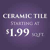 Anniversary Flooring Sale  Ceramic starting at $1.99 sq ft