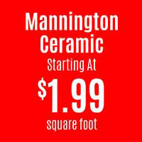 Mannington ceramic tile starting at $1.99 sq.ft. this month at American Flooring in Holt - 12 months interest free financing!