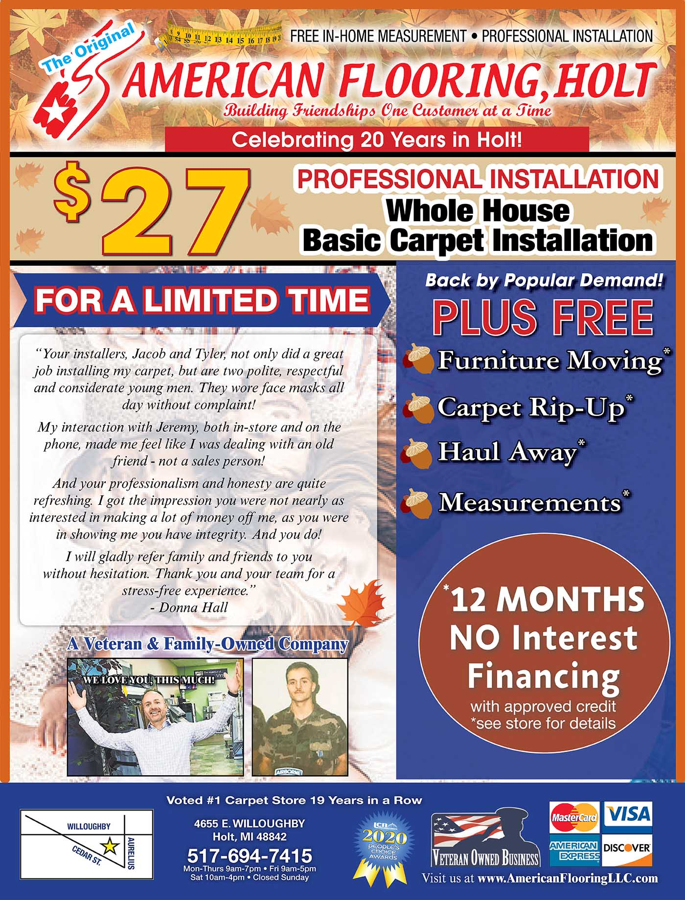 American Flooring National Gold Tag Sale in Holt, MI