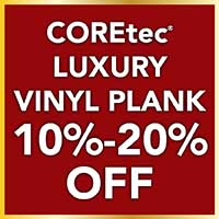 COREtec luxury vinyl plank is now 10% - 20% off during our Home for the Holidays storewide flooring sale.