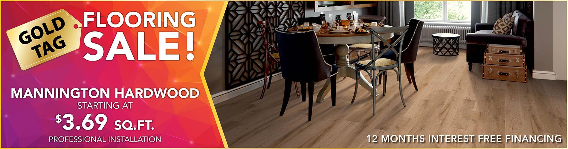 National Gold Tag Sale Mannington Hardwood Flooring $3.69 Sq.Ft.