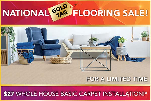 National Gold Tag Sale Whole House Carpet Installation $27