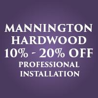 Mannington hardwood 10% - 20% off professional installation