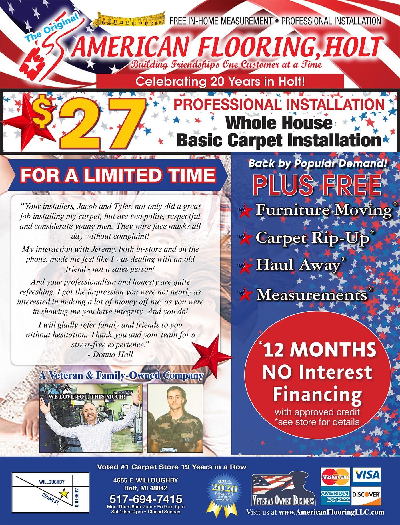 American Flooring Holt sales flyer