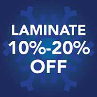 Save 10% - 20% off laminate flooring during our Winter Sale Event