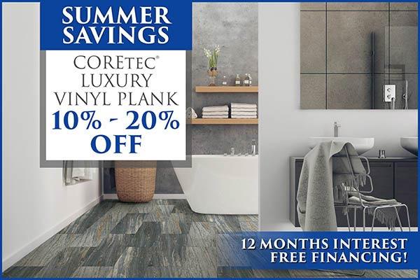 Summer Savings! Take 10% - 20% off COREtec luxury vinyl plank